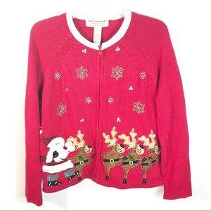 Tiara International   Women's Christmas Sweater